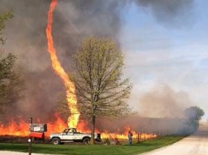 A Rare Firenado in Missouri